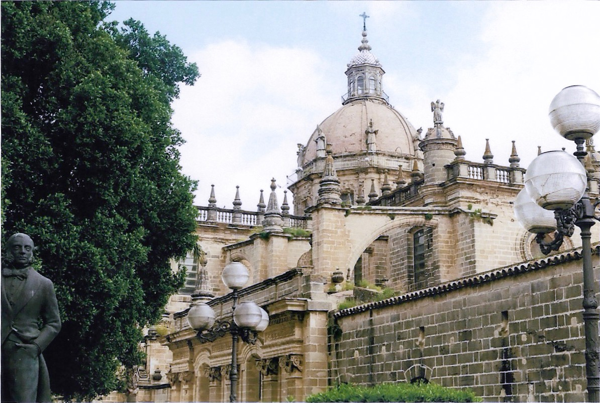 The beautiful cathedral of Jerez, surrounded by sherry distilleries