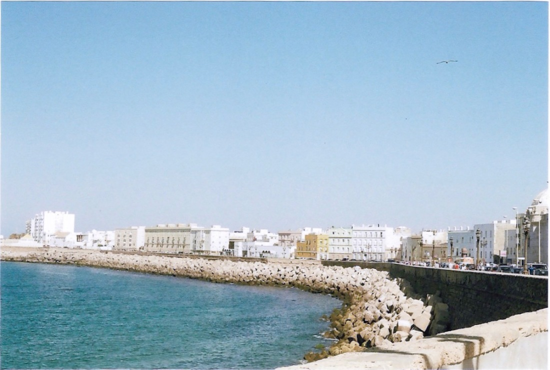 The seafront of Cadiz, showing off why it's been compared to Havana, Cuba.