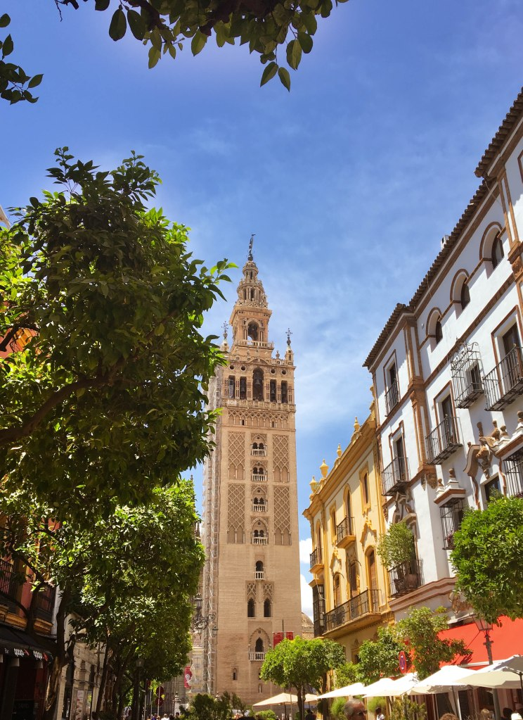 Sevilles most famous landmark, the Giralda tower of the cathedral